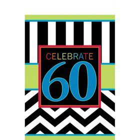 Chevron Mix 60th Birthday Table Cover (Each)