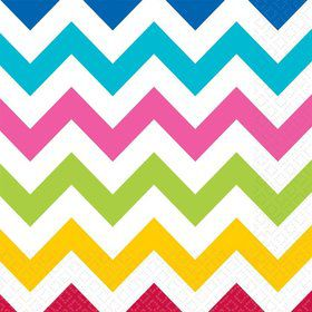 Chevron Multi Color Luncheon Napkins (36 Pack)