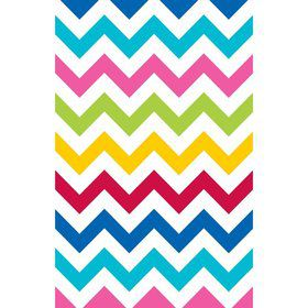 Chevron Multi Color Table Cover (Each)