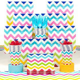 Chevron Party Deluxe Tableware Kit Serves 18