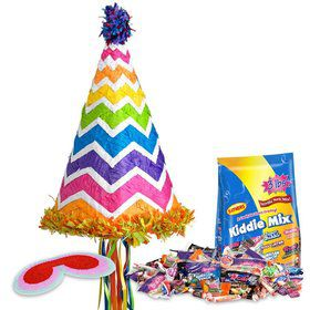 Chevron Party Hat Pinata Kit