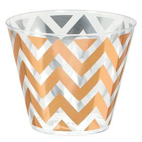 Chevron Rose Gold 9oz. Tumbler (24)