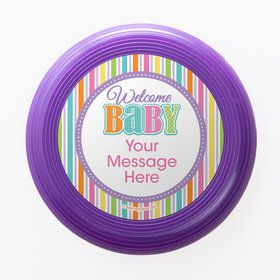 Chevron Stripe Baby Shower Personalized Mini Discs (Set of 12)
