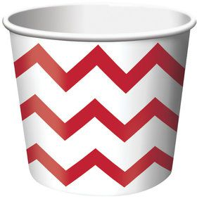 Chevron Stripe Treat Cups - Red (6)