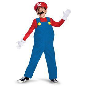Child Deluxe Super Mario Bros Mario Costume