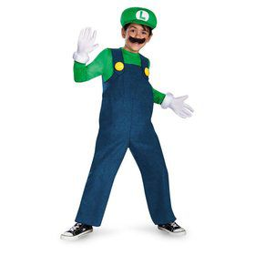 Child Deluxe Super Mario Luigi Costume
