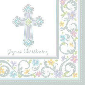 Christening Beverage Napkins (36 Pack)
