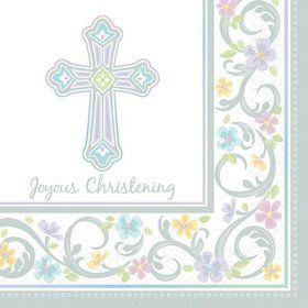Christening Luncheon Napkins (36 Pack)