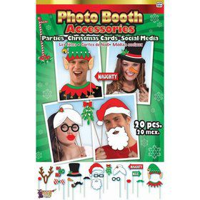 Christmas 20pc. Photo Booth Accessories