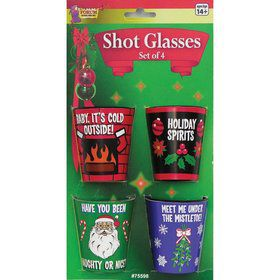 Christmas Assorted Shot Glasses (4)
