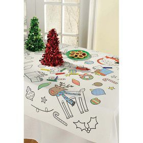Christmas Color-In Table Cover
