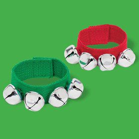 Christmas Fabric Bracelet w/ Bell (Each)
