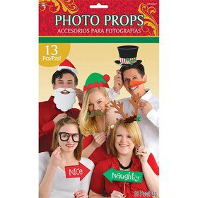 Christmas Holiday Photo Prop Kit (13 Pieces)
