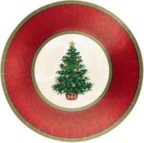 "Christmas Tree 12"" Plates (8 Pack)"