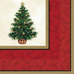Christmas Tree Beverage Napkins (16 Pack)