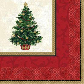 Christmas Tree Dinner Napkins (16 Pack)