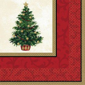 Christmas Tree Luncheon Napkins (16 Pack)