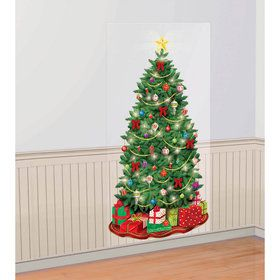 Christmas Tree Scene Setter Wall Decoration