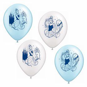 "Cinderella 12"" Latex Balloons (6 Pack)"