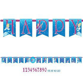 Cinderella Add-An-Age Letter Banner (Each)