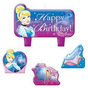 Cinderella Birthday Candle Set (4 Pack)