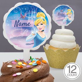 Cinderella Personalized Cupcake Picks (12 Count)