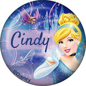 Cinderella Personalized Mini Button (Each)