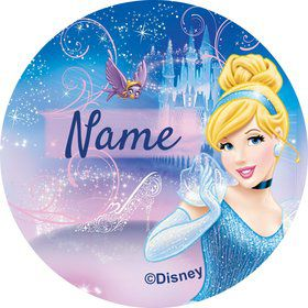 Cinderella Personalized Mini Stickers (Sheet of 24)