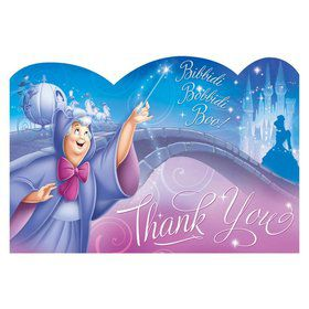 Cinderella Postcard Thank You Cards (8 Pack)