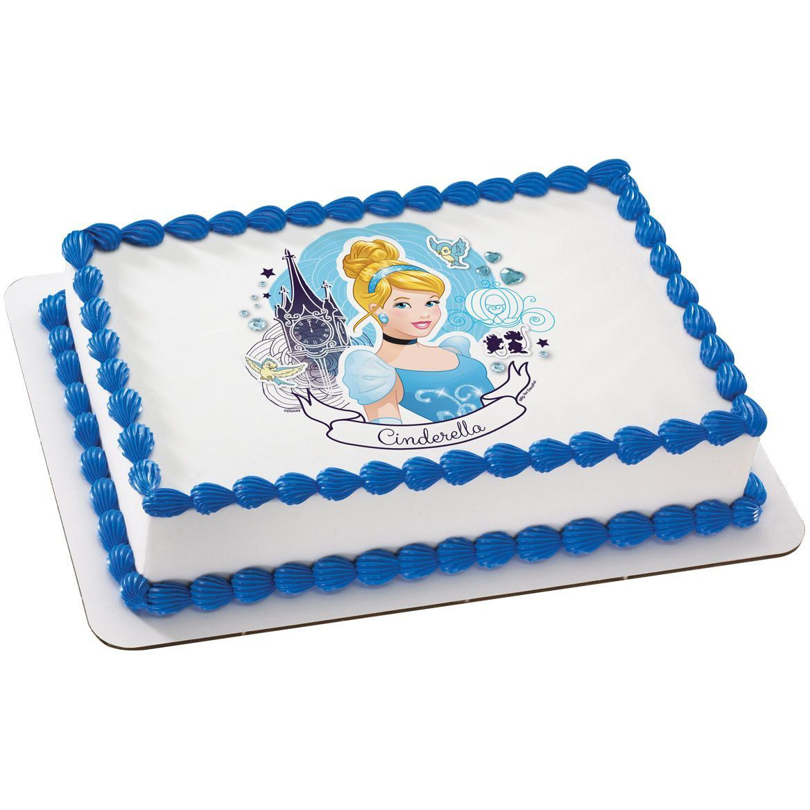 picture regarding Printable Edible Cake Toppers named Cinderella Quarter Sheet Edible Cake Topper - Cooking Kits