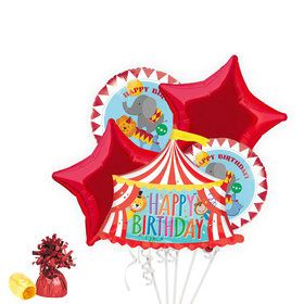 Circus Birthday Deluxe Balloon Bouquet Kit
