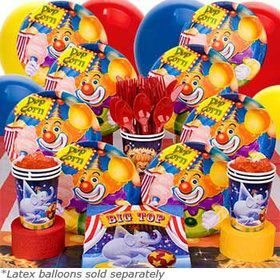 Circus Birthday Party Deluxe Tableware Kit Serves 8