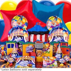 Circus Birthday Party Ultimate Tableware Kit Serves 8