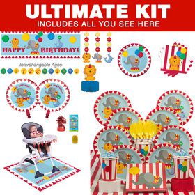 Circus First Birthday Ultimate Tableware Kit (Serves 8)