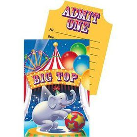 Circus Invitations (8-pack)