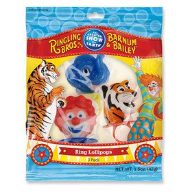 Circus Lollipop Rings (3 Count)