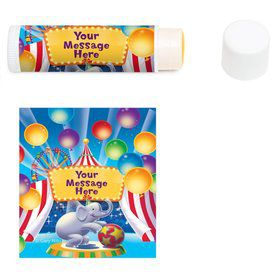 Circus Party Personalized Lip Balm (12 Pack)