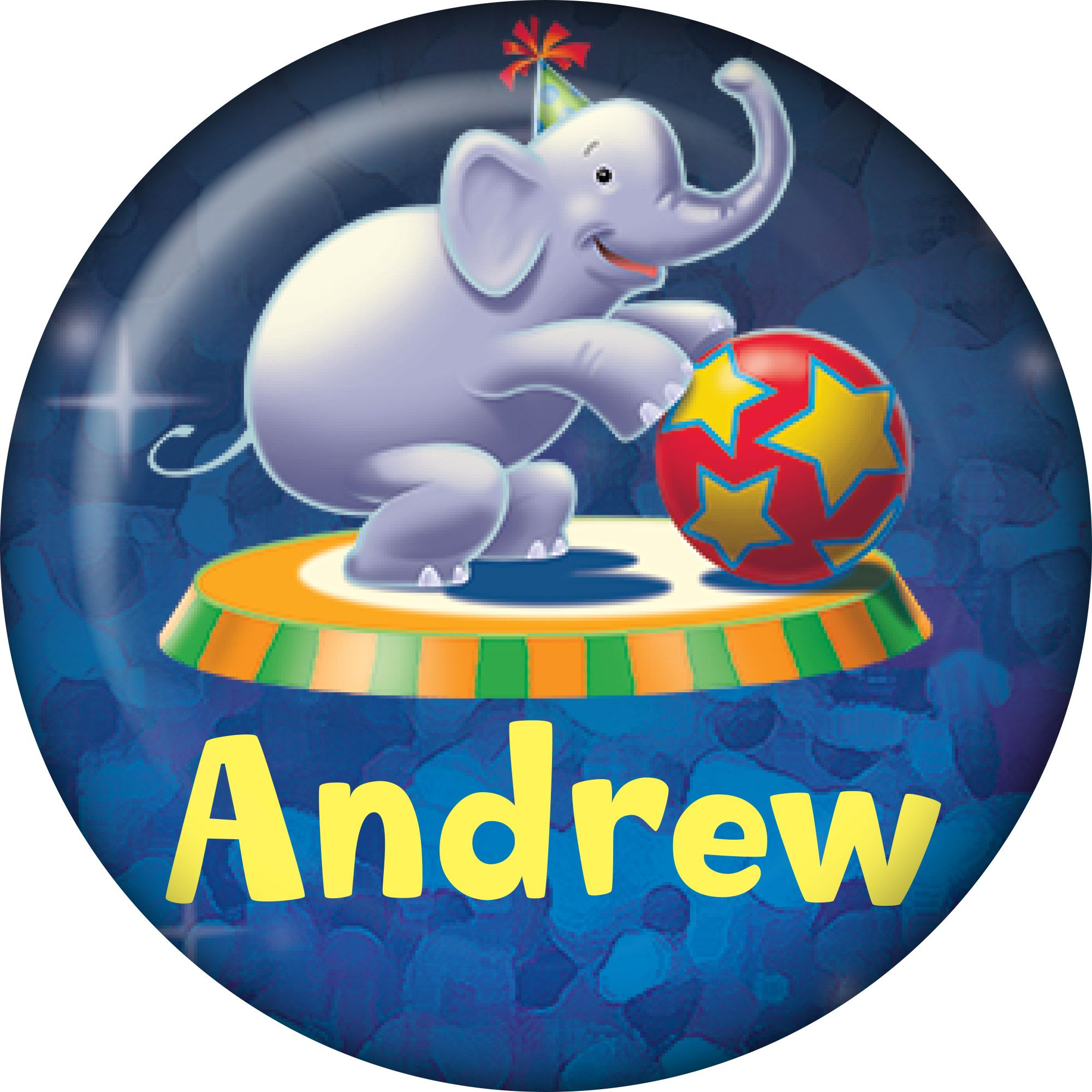 Circus Party Supplies Personalized Mini Magnet (Each)