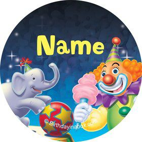 Circus Party Personalized Mini Stickers (Sheet of 20)