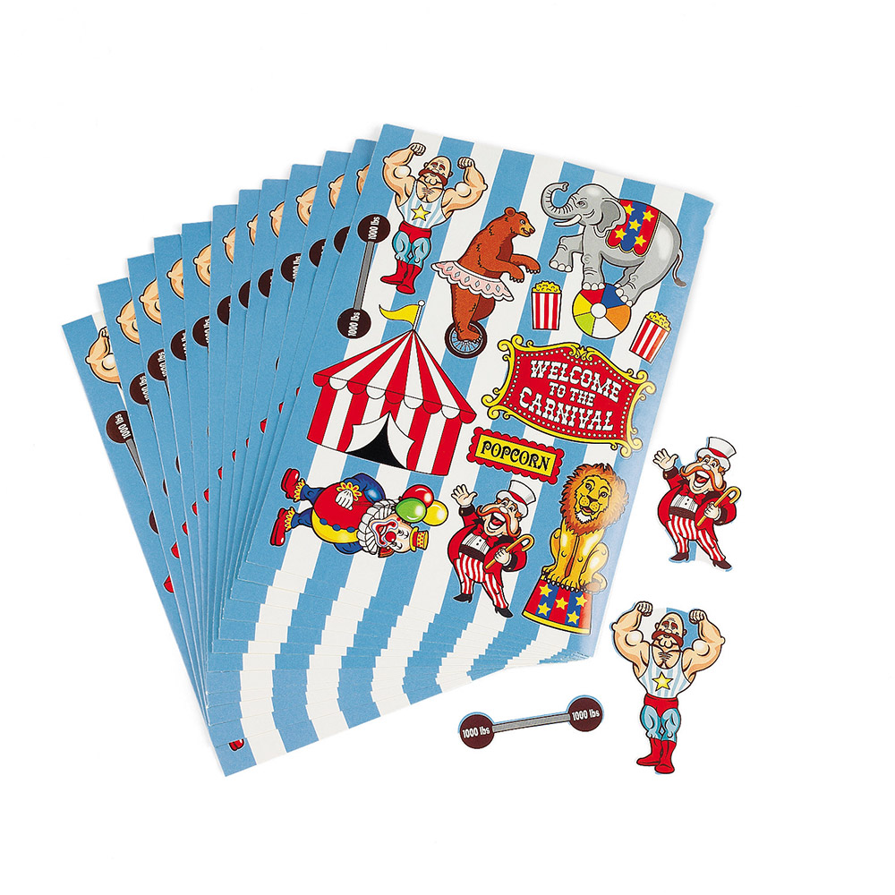 Circus Party Sticker (12-Pack) BB016308