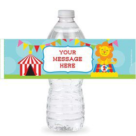 Circus Personalized Bottle Labels (Sheet of 4)