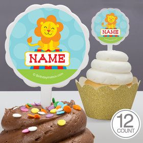 Circus Personalized Cupcake Picks (12 Count)