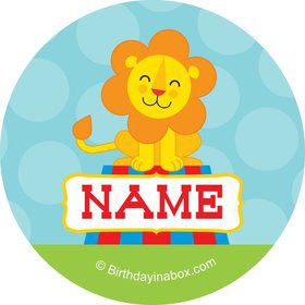 Circus Personalized Mini Stickers (Sheet of 20)