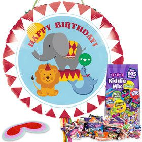 Circus Time Birthday Pull String Pinata Kit
