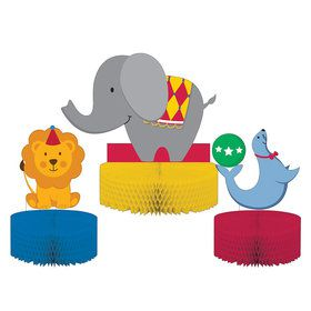 Circus Time Honeycomb Centerpiece (3 Count)