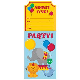 Circus Time Invitations (8 Count)
