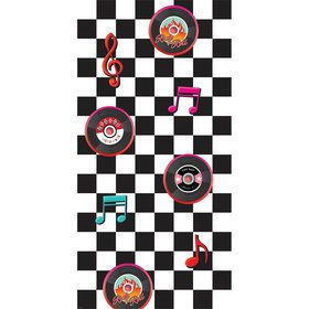 Classic 50's Rock & Roll Wall Decorating Kit (Each)