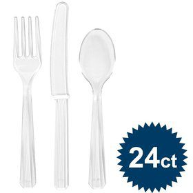 Clear Cutlery Set