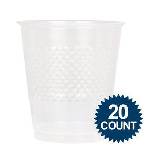 Clear Plastic Cups, 12oz (20 Pack)