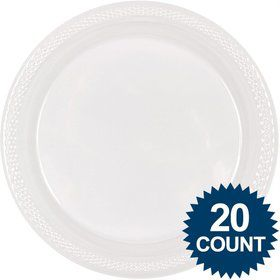 "Clear Plastic Plates, 10"" (20 count)"